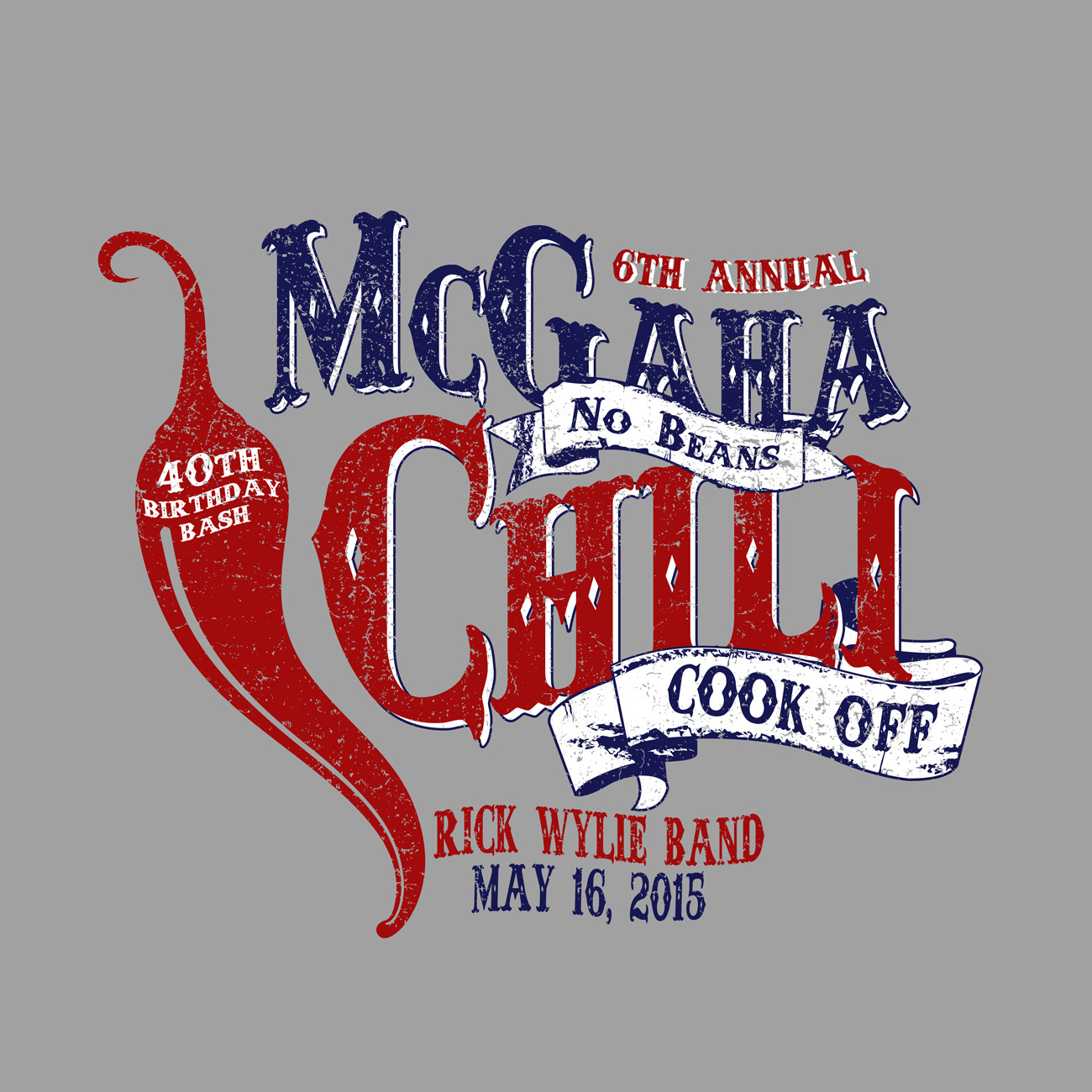 McGaha Chili Cookoff Tshirt Design