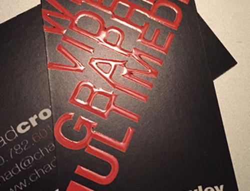 Raised Spot Gloss Business Cards
